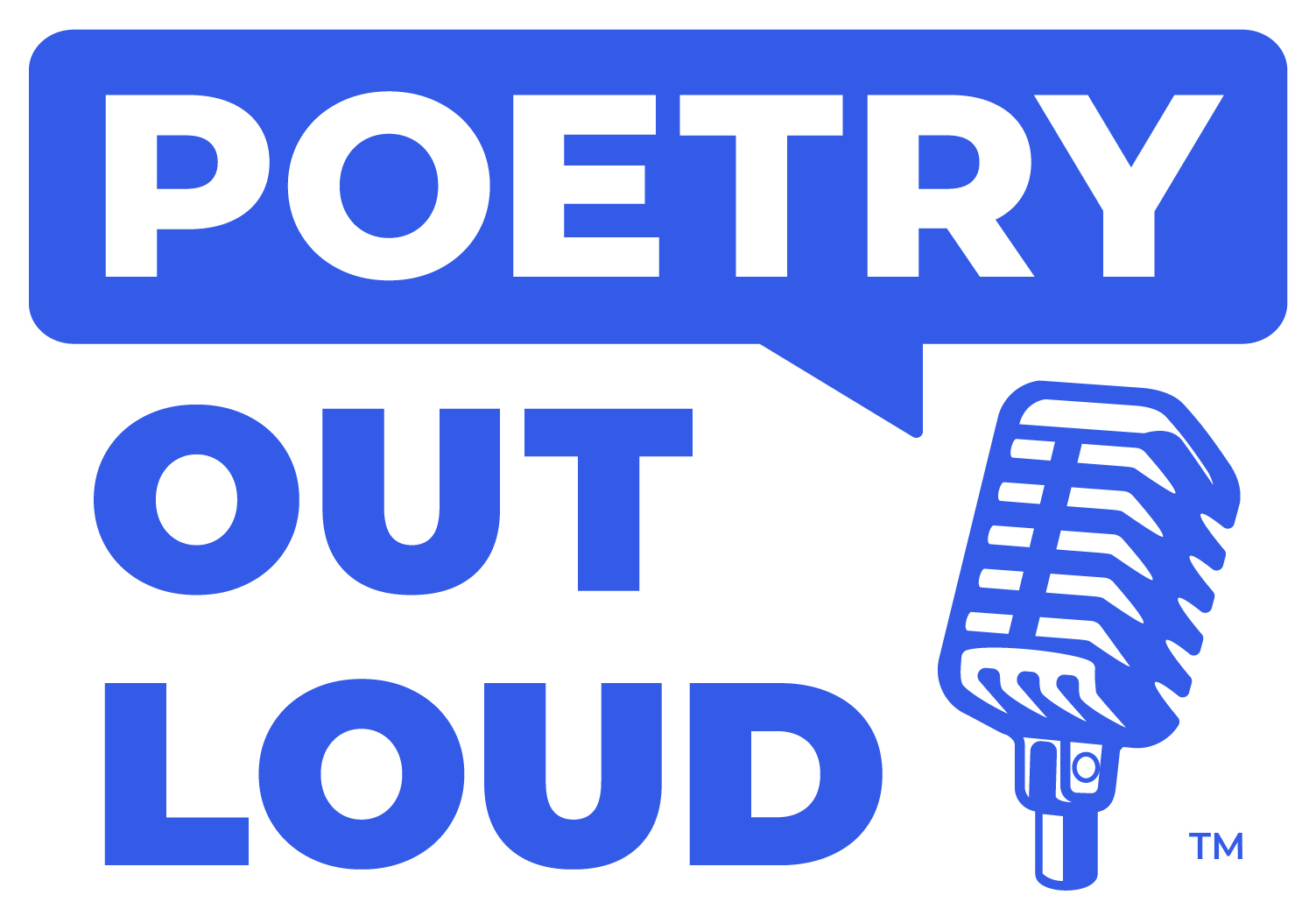 Logo of Poetry Out Loud with microphone